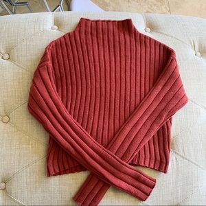 Guess Ribbed Crop Sweater Top